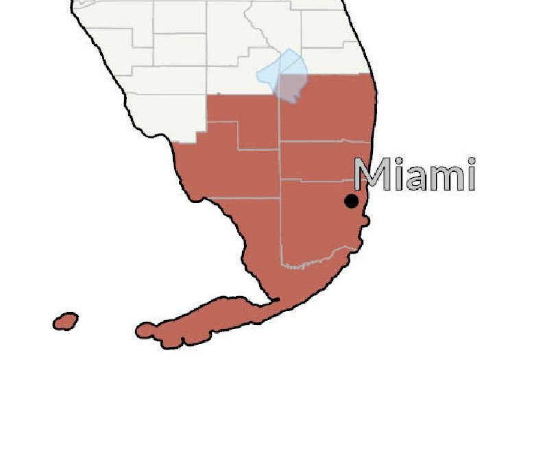 Current Southern Florida Covid-19 Hot Spot